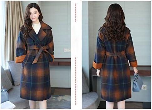 SED Cappotto da Donna-Giacca Allentata di Lattice delle Donne di Autunno e Inverno nel Cappotto di Lunghezza del Cappotto di Cachemire su Due Lati di Grande Formato,Arancia,2XL