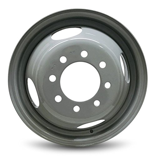 2000 Chevy Dually - Road Ready Car Wheel For 1988-2000 Chevrolet 3500 GMC 3500 1996-2002 Chevrolet Express 3500 GMC Savana 3500 16 Inch 8 Lug Gray Steel Rim Fits R16 Tire - Exact OEM Replacement - Full-Size Spare