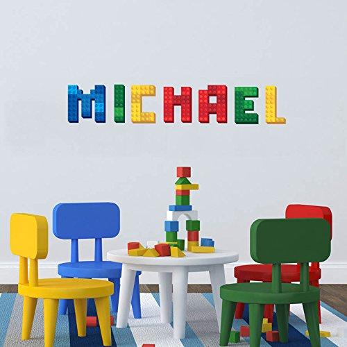 3d Brique Bloc Nom Autocollant Décoration murale personnalisée bébé Autocollant Nom personnalisé Chambre d'enfant murale lettres de l'alphabet panoramique