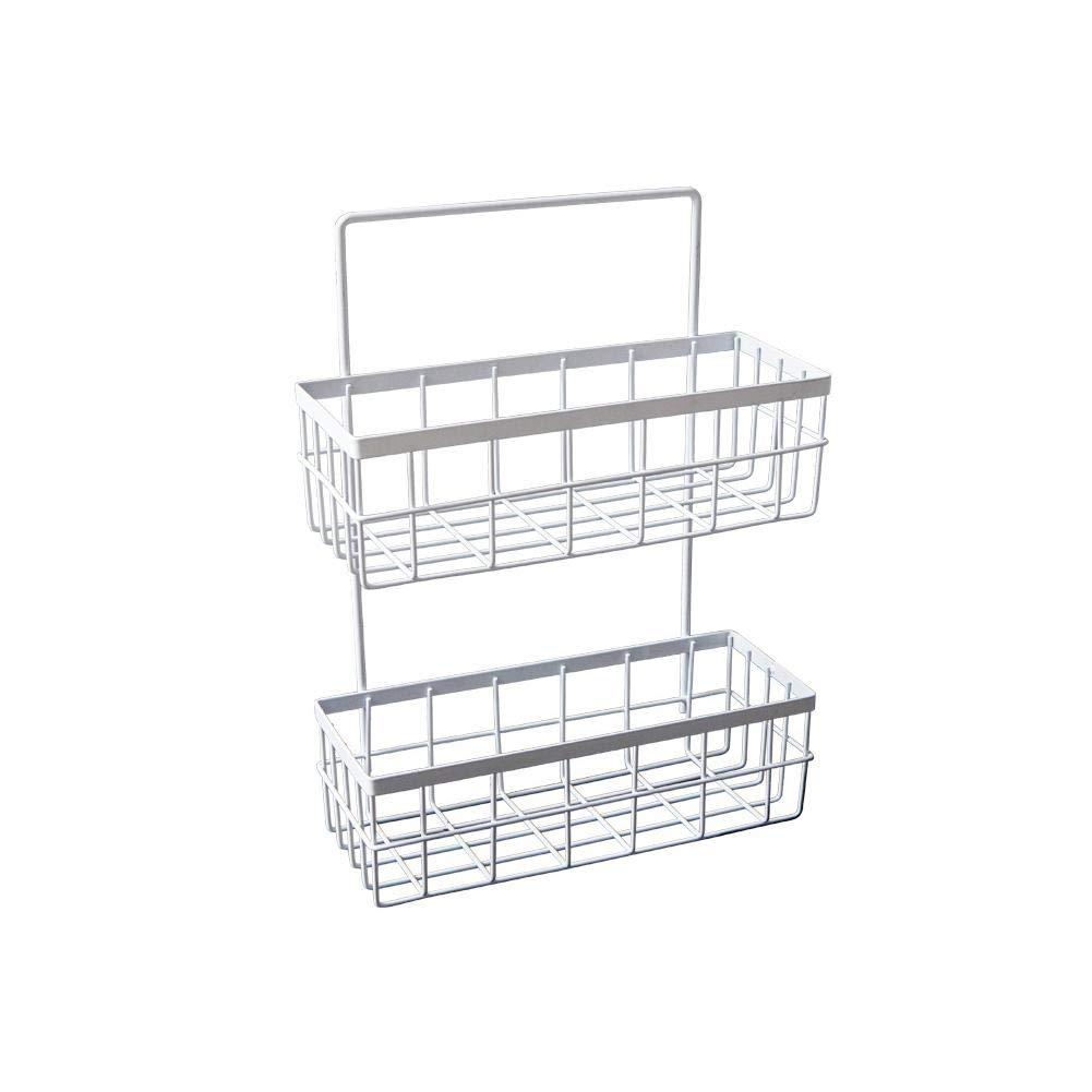 Househome Wall Mounted Storage Basket, Wrought Iron Storage Rack Kitchen Multi-Layer Organization Rack Wall-Mounted Storage Rack.