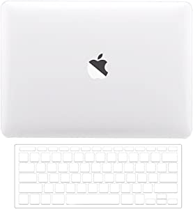 TOP CASE MacBook Pro 13 inch Case 2019 2018 2017 2016 Release A1708 Without Touch Bar, 2 in 1 Signature Bundle Crystal Hard Case + TPU Keyboard Cover Compatible MacBook Pro 13