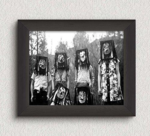 Creepy Kids Group Photo Vintage Art Print - 8x10 Wall Art - Halloween Decor (Halloween Photos Vintage)