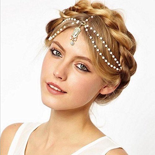 A&c 2016 Hot Chic Fashion Princess Gold Head Chain for Women, Fashion Headband for Girl. - Indian Head Princess