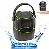 InnoCreek 3-in-1 Multifunctional Waterproof Outdoor Wireless Bluetooth Speaker, Rechargeable LED Lantern Flashlight, 8800mAh Power Bank USB Charger for Camping, Hiking, Picnic and more (Green)