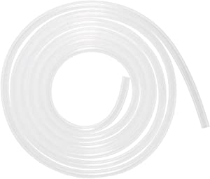 Quickun Pure Silicone Tubing, 5mm ID x 7mm OD High Temp Food Grade Tube Pure Silicone Hose Tube for Home Brewing, Beer Line, Kegerator, Wine Making, Aquaponics, Air Hose by Proper Pour (9.84 Ft)