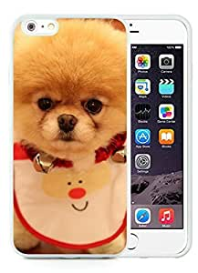 Personalized iPhone 6 Plus Case,Christmas Dog White iPhone 6 Plus 5.5 TPU Case 23