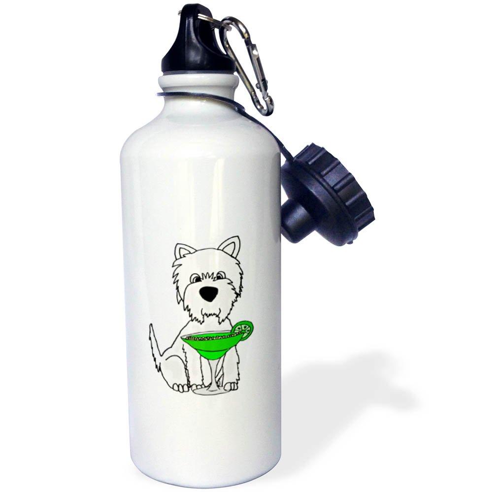 ローズWB 260971 _ 2面白いかわいいボストンテリア子犬犬空手Cartoon Straw Water Bottle B0761BGN3P