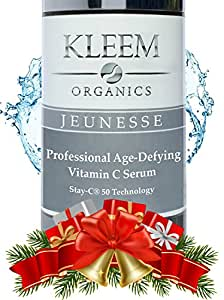 Anti Aging Vitamin C Serum for Face with Hyaluronic Acid & Vitamin E Oil, that Helps Fade Age Spots, Clear Adult Acne & Get Rid of Wrinkles for a Glowing & Younger Skin - 1 Fl. Oz
