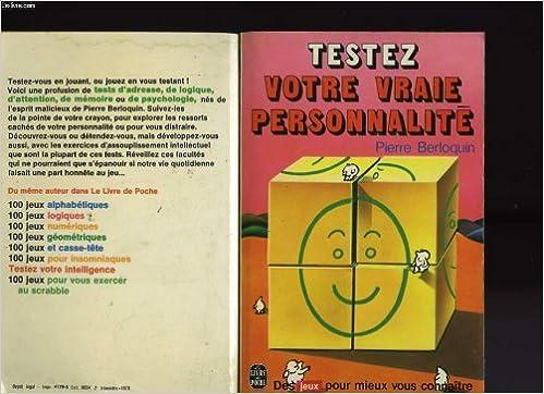 Livres Testez votre vraie personnalité epub pdf