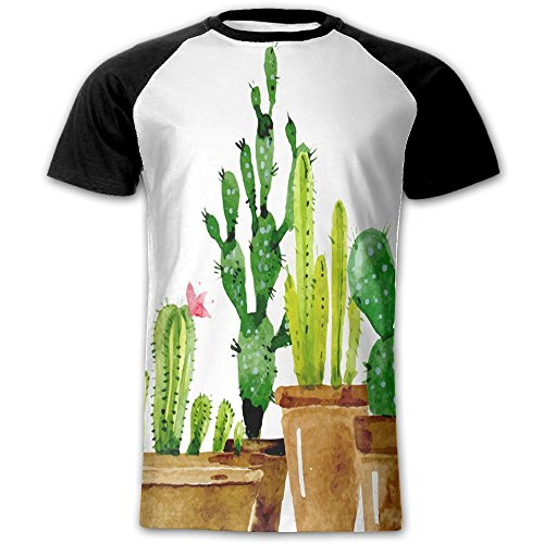 Newfood Ss The Cactus of Different Sizes is Very Cute Men's Short Sleeve Raglan T XL (Ps3 Tow Truck Games)