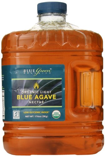 Blue Green Agave Organic Nectar, Light Blue, 176 Ounce by Blue Green Agave