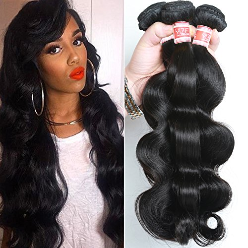 YIZE-Hair-7A-Brazilian-Human-Hair-Body-Wave-Weft-3-Bundles-100-Unprocessed-Virgin-Remy-Hair-Extensions-Black-Color