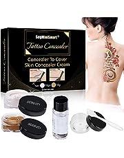 Tattoo Concealer,Scar Concealer,Makeup Concealer,Cover Tattoo,Birthmarks/Vitiligo, Waterproof Concealer, Professional Waterproof Tattoos Cover Up Makeup Concealer Set