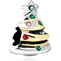 Christmas Tree Gifts Multicolor Crystal Charm Sale Cheap Beads Fit Pandora Charms Bracelets