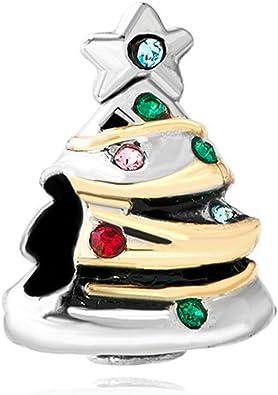Albero Di Natale Pandora.Ciondolo Per Bracciale Pandora A Forma Di Albero Di Natale Amazon It Gioielli