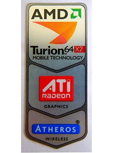 Original AMD Turion 64 X2 /ATI Combi Sticker 18 x 43.5mm [145]