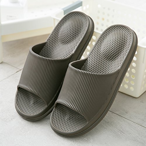 FankouCasa de masajes verano fresco verano zapatillas mujeres parejas interiores baño con bañera antideslizante marrón crecen gruesas ,42-43 home zapatillas