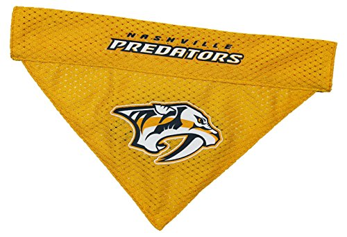 NHL Nashville Predators Bandana for Dogs & Cats, Large/X-Large. - Cute & Stylish Bandana! The Perfect Hockey Fan Scarf Bandana, Great for Birthdays or Any Party! - Ride Jersey Mesh