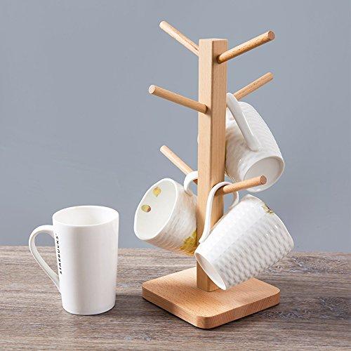 xdobo Party Bar Wooden Cup/Mug Rack, Natural Wood Tree Shape