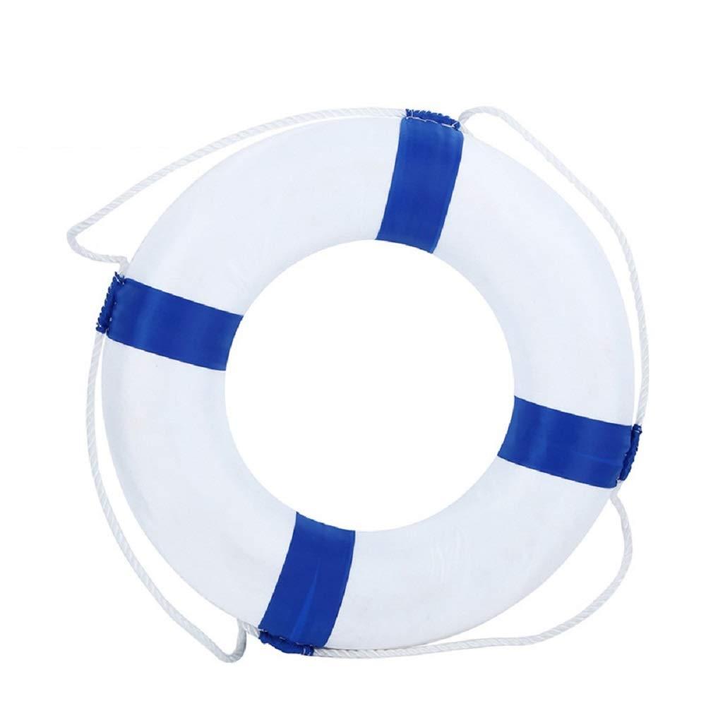 BeautySu. Huapa Foam Swim Rings - Children Swimming Pool Lifebuoy Safety Life Preserver with Perimeter Rope(Blue)