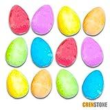 Toys : Crenstone Easter Egg Chalk Set for Kids Toddlers -- 12 Chalk Eggs, Spring Colors (Easter Egg Hunt Toys Supplies)