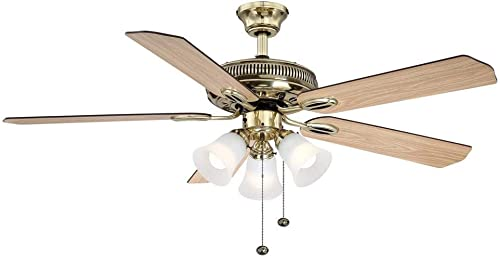 Hampton Bay Glendale 52 in. Indoor Flemish Brass Ceiling Fan