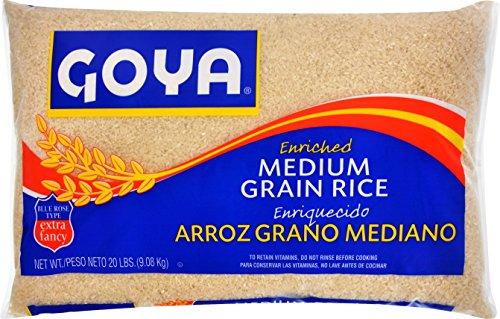 Goya Grain Rice, Medium, 20 Pound by Goya