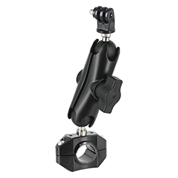 REC-MOUNTS GoPro バイク クランプ径22.2mm/25.4-26.0mm用 用 [REC-B21-BB(BK)M-GP] バーマウントセット (ゴープロ)