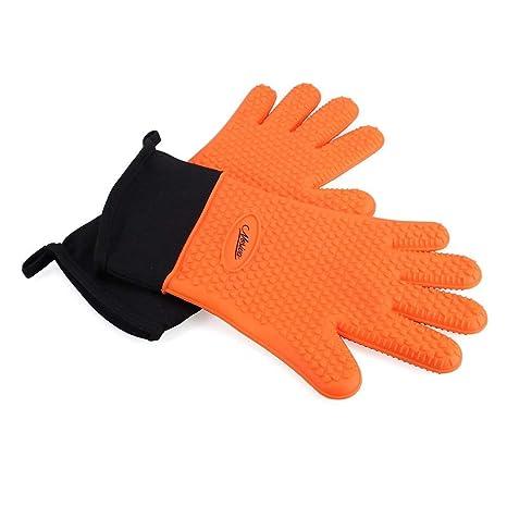NOSIVA Ofenhandschuhe, Silikon 230 ? Extrem Hitzebeständige Grillhandschuhe BBQ Handschuhe zum Kochen, Backen, Barbecue Isola