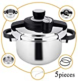 Z&L 6 Quart Stainless Steel Pressure Cooker with One-hand System,7psi/12psi Settings Premium High Pressure Cooker,Induction Pressure Cookware,Stove top Pressure Cooker Review