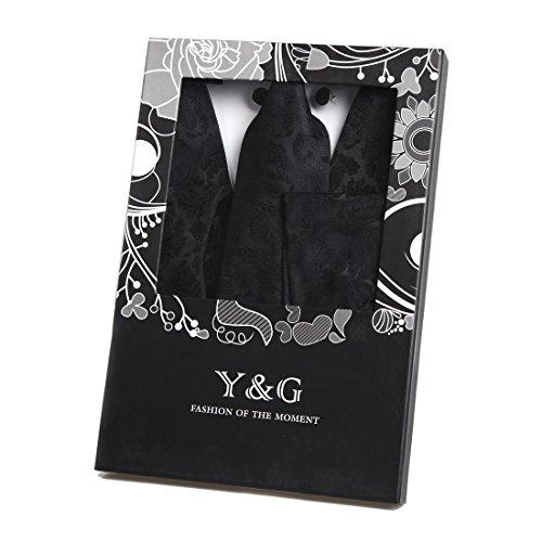 Y&G Waistcoat SetHerren Smoking Schwarz Schwarz