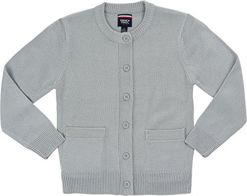 Girls Grey School Cardigan - 3