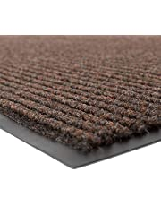 """NoTrax 109 Brush Step Entrance Mat, for Lobbies and Indoor Entranceways, 4' Width x 8' Length x 3/8"""" Thickness, Brown"""