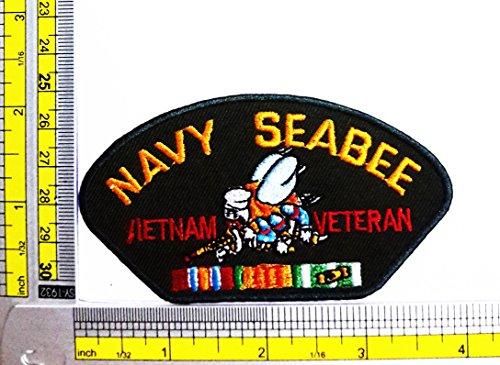 [Navy Seabees Vietnam Veteran Wwii United States Navy Military Logo Jacket Uniform Patch] (Ww2 Navy Uniforms)
