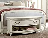 Hillsdale Kids and Teens 20590 Kensington Dressing Bench, Antique White