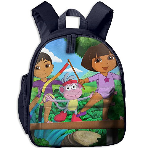 Price comparison product image Dora The Explorer Functional Design For Kids School Backpack Children Bookbag Perfect For Transporting For Casual In 4 Season Navy