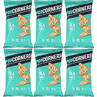 Popcorners Salt of the Earth, Crispy and Crunchy Popped Corn Chips, Gluten-Free Snack, 5oz Bag (Pack of 6, Total of 30 Oz)