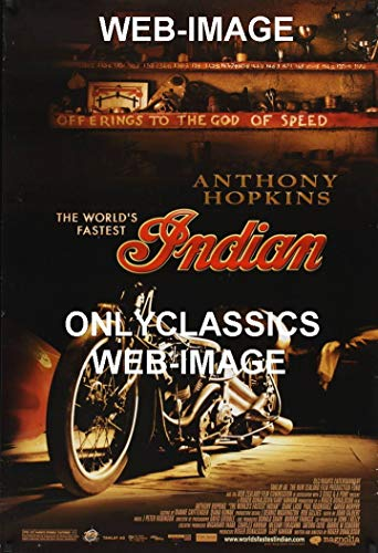 - OnlyClassics World's Fastest Indian Motorcycle Racing Movie Poster Speed Shop Bonneville Salt