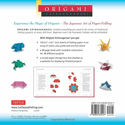Origami Extravaganza: Folding Paper, a Book, and a Box by Tuttle Publishing (Image #3)