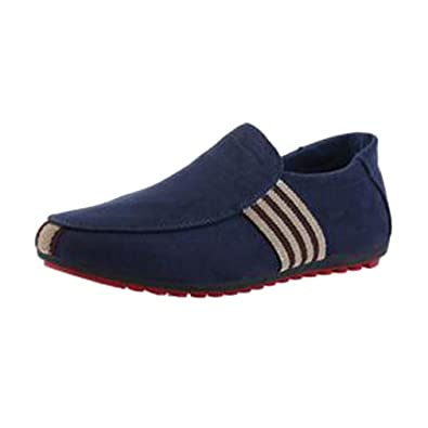 Juleya Hommes Mocassins Chaussures Plates Chaussures, Mocassins en Daim  Hommes Penny Loafers Casual Bateau Chaussures d70a761c882