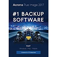 Acronis True Image 2017 Backup & Utilities Software 3 Devices