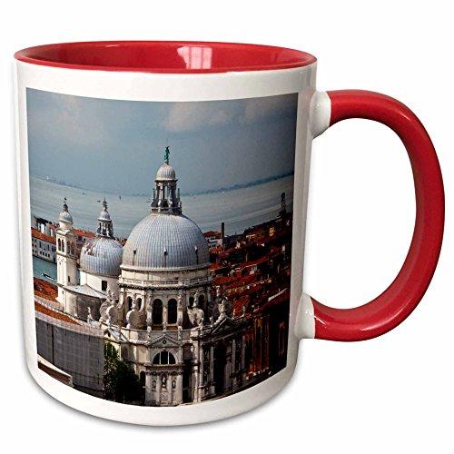 3dRose Danita Delimont - Venice - Bell Tower view, San Marco Square, Venice, Italy - EU16 TEG0413 - Terry Eggers - 15oz Two-Tone Red Mug - San Marco Italy Venice Square
