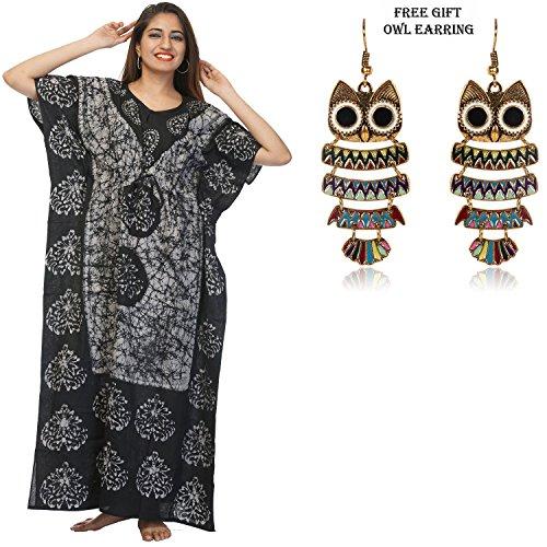Le Coton Des Femmes Odishabazaar Couvrir Robe Longue Nuit De Sommeil Porter Caftan Caftan # 34