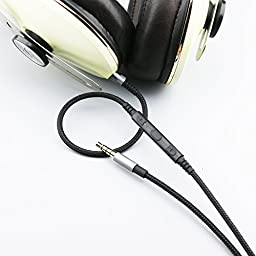 Ablet Replacement cable for Sennheiser Momentum , Momentum 2.0 , On-Ear , Over-Ear headphones, Apple devices iOS remote volume mic Audio cord fit iphone ipod ipad MacBook Pro