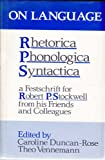 On Language Rhetorica, Phonologica, Syntactica, Caroline Duncan-Rose, etc., 0415003121