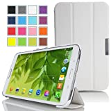 Mulbess - Samsung Galaxy Tab Pro 8.4 Slim Case Cover - Magnetic Leather Case Cover with Stand for Samsung Galaxy Tab Pro 8.4 Color White