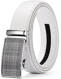"Men's Ratchet Belt Automatic Buckle Genuine Leather belt 35mm Wide 1 3/8"""