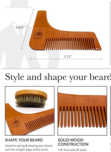 Ultimate-Shape-and-Style-Beard-Grooming-Kit-7Piece-Unscented-Beard-Oil-Boar-Bristle-Brush-Template-comb-Dressing-Comb-Shavette-Razor-Mustache-Comb-10-Blades