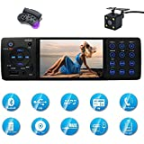 CARED Car Stereo receiver with Bluetooth FM and Radio Indash/4.1inch HD Digital Screen/MP3 Video Player, Single Din USB/AUX in/Hands-Free Calling/Wireless Remote Control