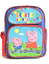 """Small Backpack - Peppa Pig - Scooter Buddies 12"""" School Bag New 122816"""